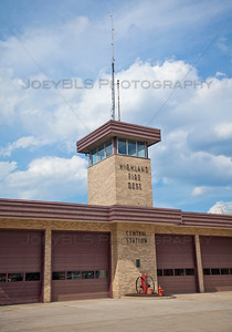 Highland, Indiana Central Fire Station on Highway Avenue