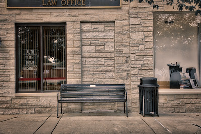 Bench on Highway Avenue in Downtown Highland, Indiana