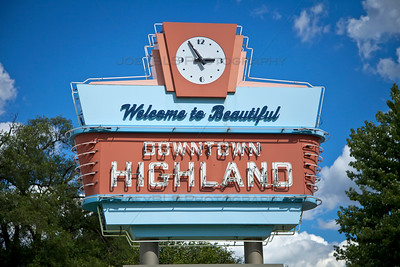 Welcome to Downtown Highland, Indiana Vintage Sign