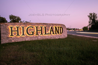 Highland, Indiana Monument Sign on Indianapolis Blvd