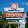 Highland, Indiana Neon Welcome Sign