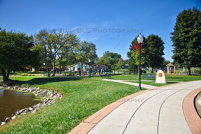 Playground at Festival Park in Hobart, Indiana