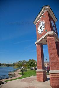 Hobart, Indiana Clock along Lake George Trail