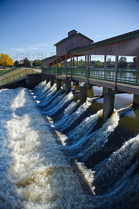 Lake George Dam in Hobart, Indiana