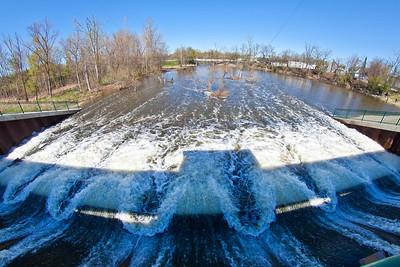 Lake George Dam in Hobart, Indiana