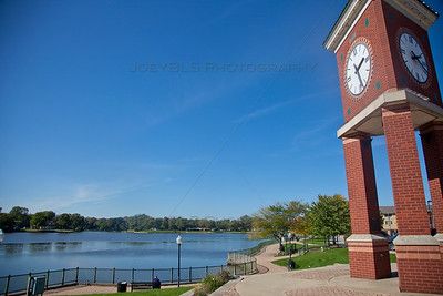 Hobart, Indiana Clock along Lake George Trail