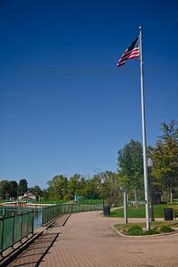 Hobart, Indiana Lake George Trail American Flag