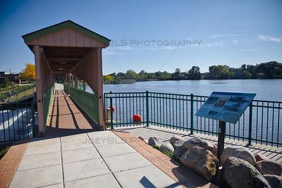 Lake George Walking Trail and Dam in Hobart, Indiana