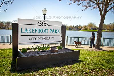 Lakefront Park at Lake George in Hobart, Indiana