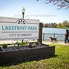Lakefront Park at Lake George in Hobart, Indiana