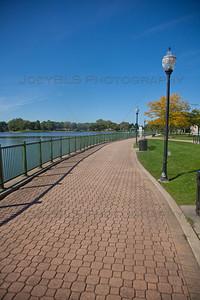 Lake George Walking and Bike Path in Hobart, Indiana