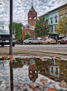 La Porte, Indiana Puddle Reflection