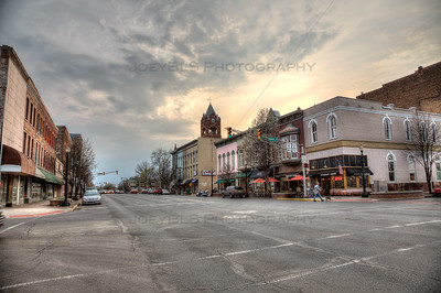 Downtown La Porte, Indiana on Lincolnway in the Spring