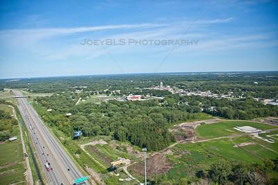 Aerial photo of Lake Station, Indiana