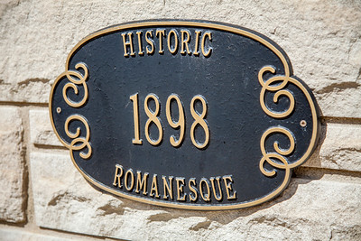 Historic Romanesque Plaque in Lowell, Indiana