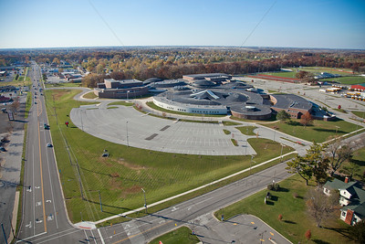 Aerial photo of Lowell, Indiana High School
