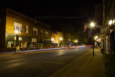 Downtown Lowell, Indiana at Night