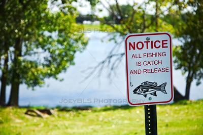 Fishing at Hidden Lake Park in Merrillville, Indiana
