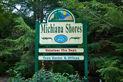 Michiana Shores, Indiana Welcome Sign