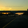 Sunset in Michigan City, Indiana on I-94 Expressway at US 421