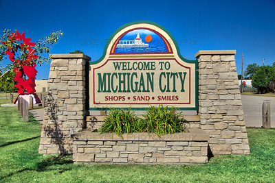 Michigan City, Indiana Welcome Sign