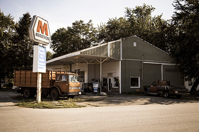 Old Gas Station in Morocco, Indiana