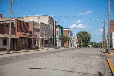 Main Street in Downtown Morocco, Indiana