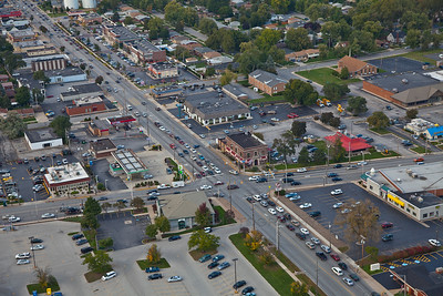 Aerial photo of Munster, Indiana over Calumet Ave