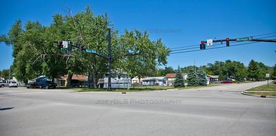 New Chicago, Indiana Street Corner - Huber Blvd and Michigan St