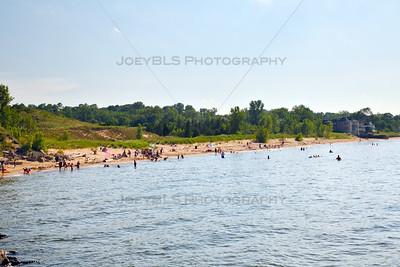 Portage, Indiana Beach and Riverwalk on Lake Michigan