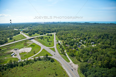 Aerial photo of Porter, Indiana