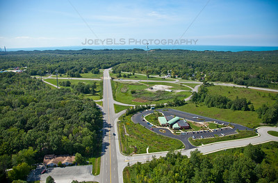 Aerial photo of Porter, Indiana - Indiana Dunes Visitor Center