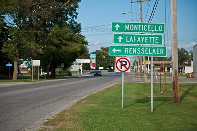 Remington, Indiana Directional Sign