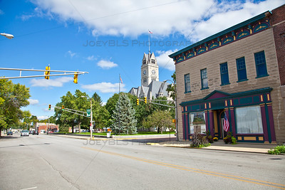 Downtown Rensselaer, Indiana in Jasper County