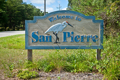 San Pierre, Indiana Welcome Sign
