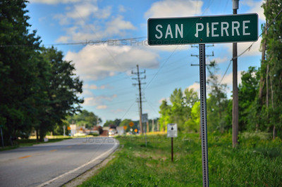 San Pierre, Indiana Road Sign