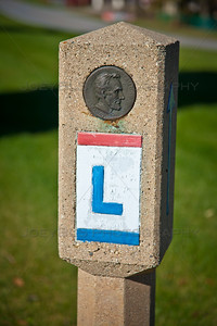 Old Lincoln Highway Marker in Schererville