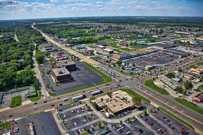 Aerial Schererville, Indiana at US 41 and US 30 - Photo from 2012