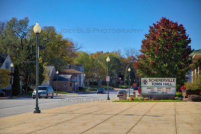 Downtown Schererville, Indiana Town Hall