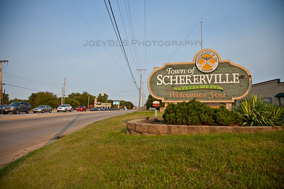 Welcome to Schererville Sign on US 30