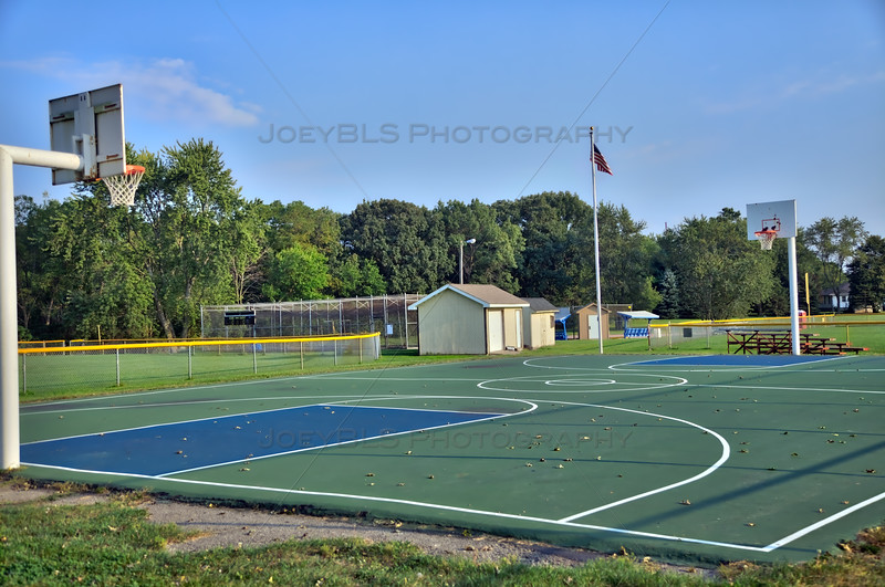 Basketball Court in St John, Indiana