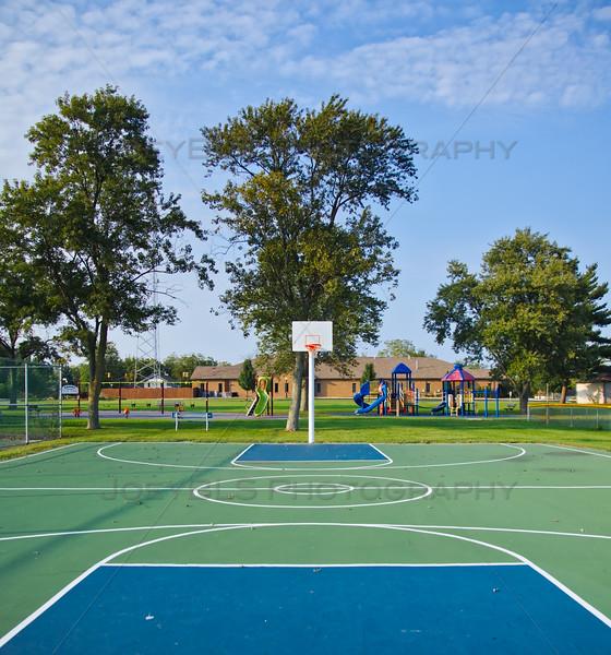 St John, Indiana Basketball Court at Veterans Civic Park