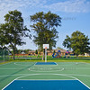 St John, Indiana Basketball Court at Veterans Civic Park