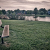Park Bench at Prairie West Park in St John, Indiana