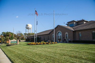 St John, Indiana Town Hall in the Fall