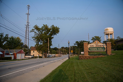 Downtown St John, Indiana on 93rd Avenue