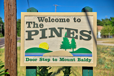 Town of Pines, Indiana Welcome Sign