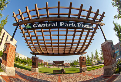 Central Park Plaza in downtown Valparaiso, Indiana