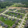 Aerial New Residential Development and Construction in Valparaiso, Indiana