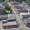 Aerial Downtown Valparaiso, Indiana